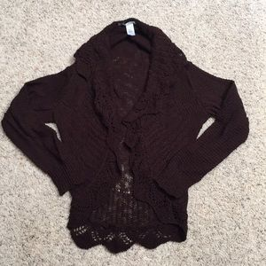 Women's XL Maurices long sleeve knit cover up.